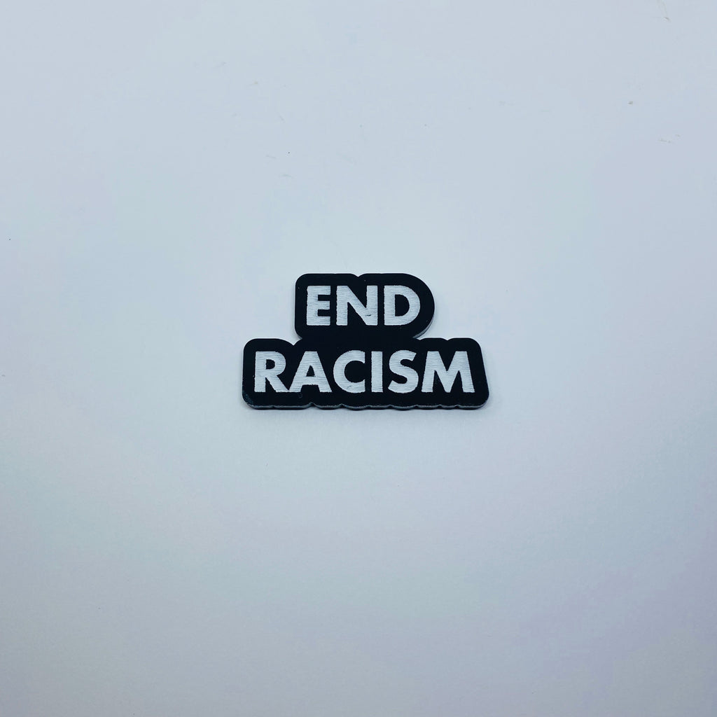 Flare End Racism Lapel Pin