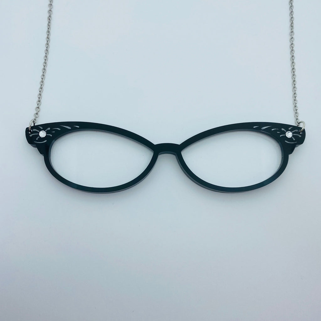 Flare Cat Eye Glasses Necklace