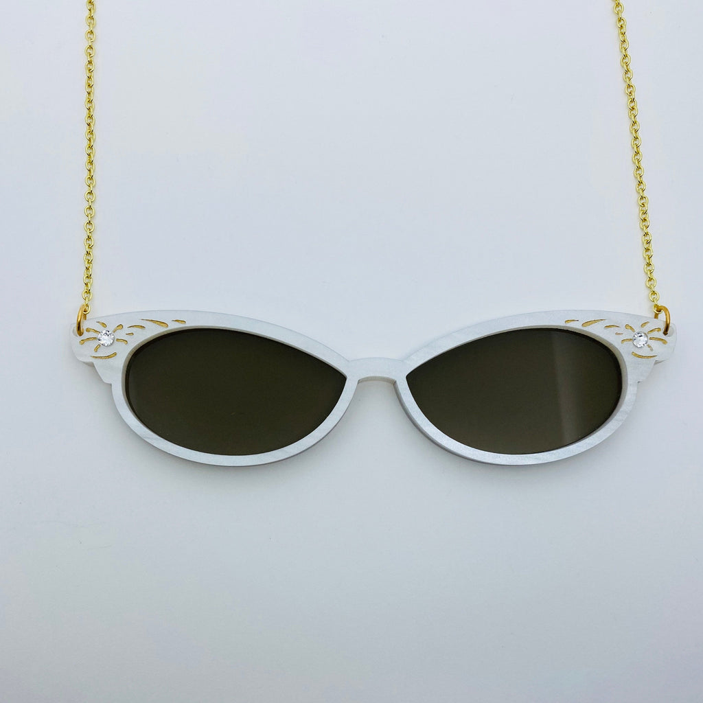 Flare Cat Eye Sunglasses Necklace