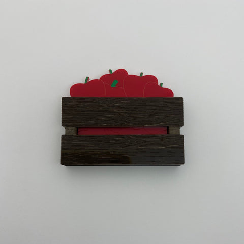 Flare Apple Crate Brooch