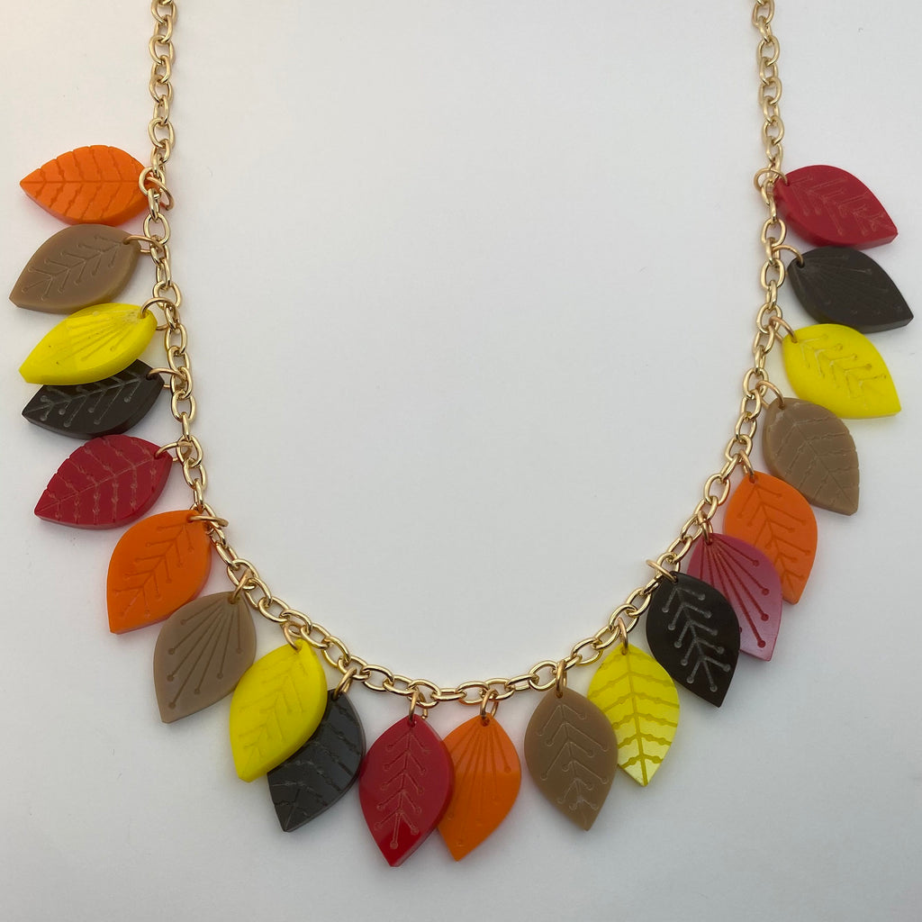 Flare Mid Century Leaf Necklace
