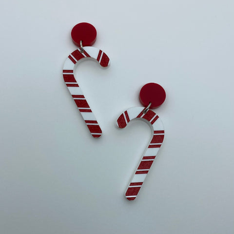 Flare Candy Cane Earrings