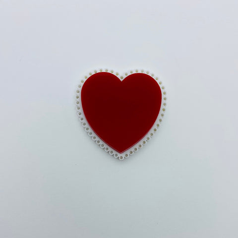 Flare Valentine Heart Brooch