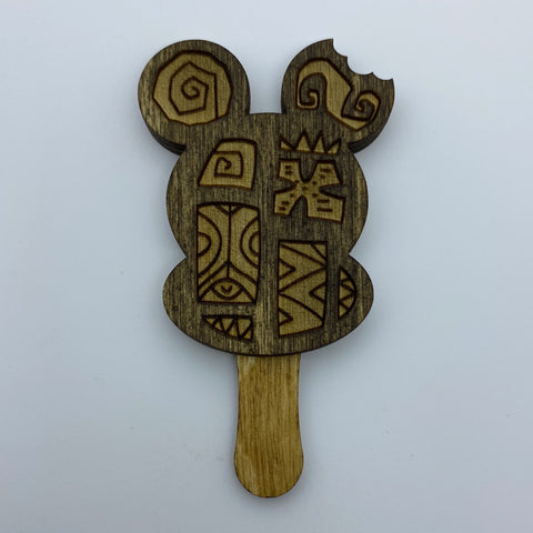 Wooden Ice Cream Bar Litewood™ Brooch by Tiki Tony
