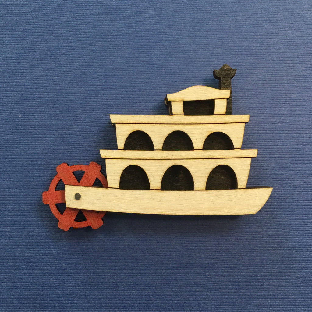 Limited Edition Riverboat Litewood Brooch