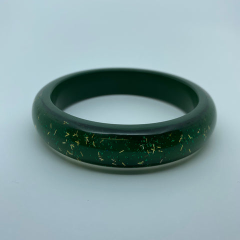 Confetti Lucite Medium Sparklite™ Bangle in Shamrock
