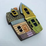 Wooden Up House Litewood™ Brooch