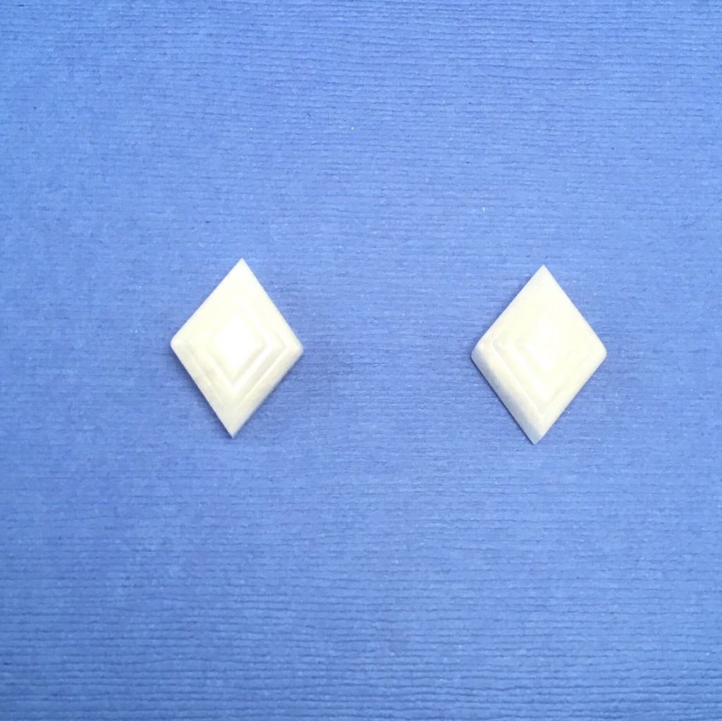 Pearl Lucite Deco Sparklite™ Cufflinks in White