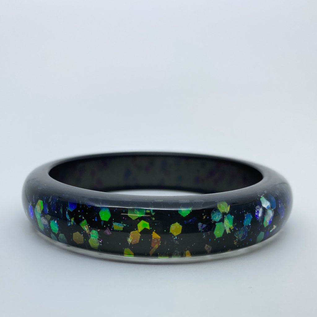 Confetti Lucite Medium Sparklite™ Bangle in Galaxy