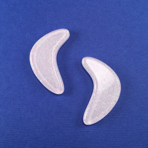 Confetti Lucite Extra Large Boomerang Sparklite™ Earrings in Abalone