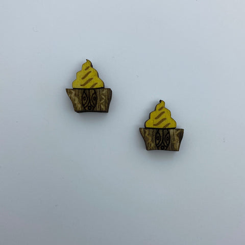Wooden Pineapple Whip Litewood™ Earrings by Tiki Tony