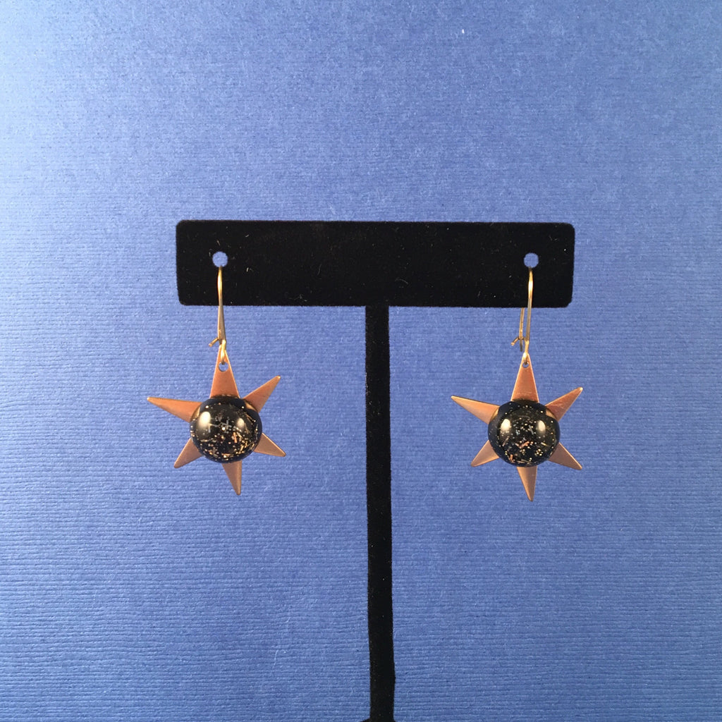 Confetti Lucite Brass Starburst Sparklite™ Earrings