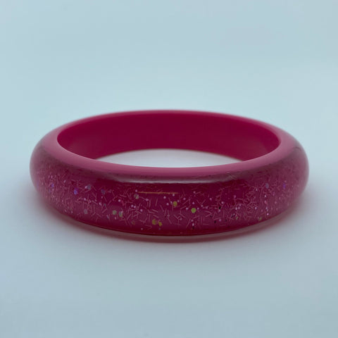 Confetti Lucite Medium Sparklite™ Bangle in Bubblegum