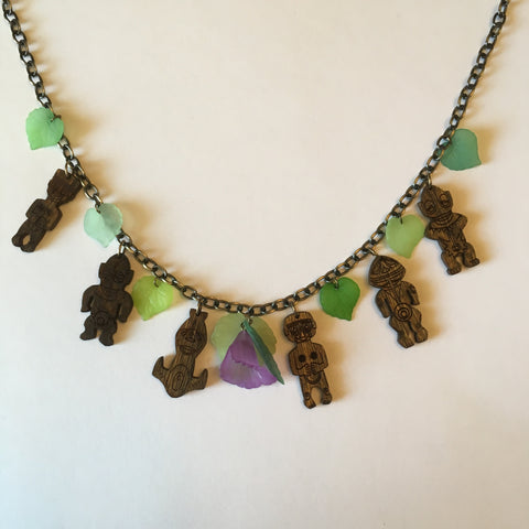 Wooden Tiki Babies Litewood™ Necklace