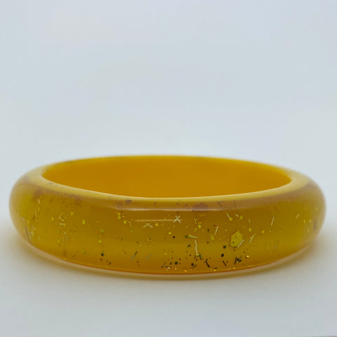 Confetti Lucite Medium Sparklite™ Bangle in Sunshine