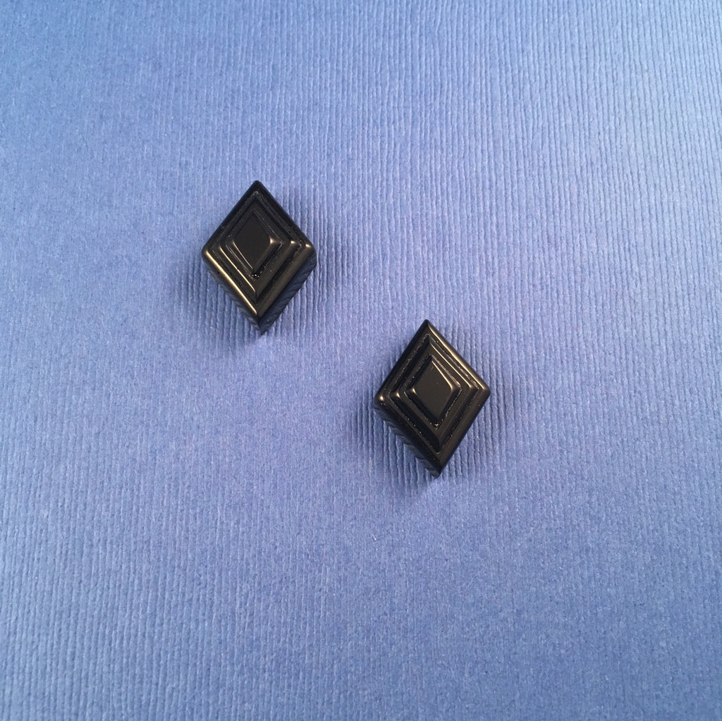 Bakelite Deco Diamond Sparklite™ Earrings