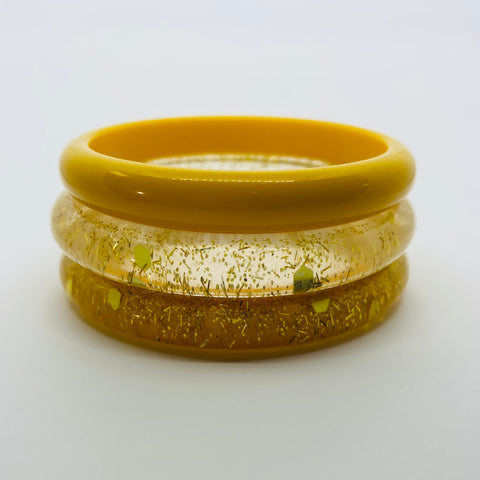 Confetti Lucite Narrow Sparklite™ Bangle Set in Sunshine