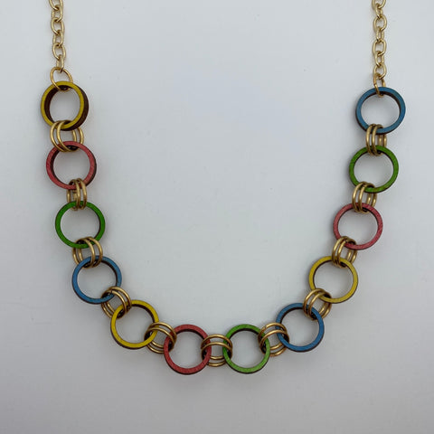 Wooden Brass Haskell Chain Litewood™ Necklace in Primary
