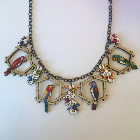 Hand Painted Wooden Enchanted Tiki Litewood™ Necklace