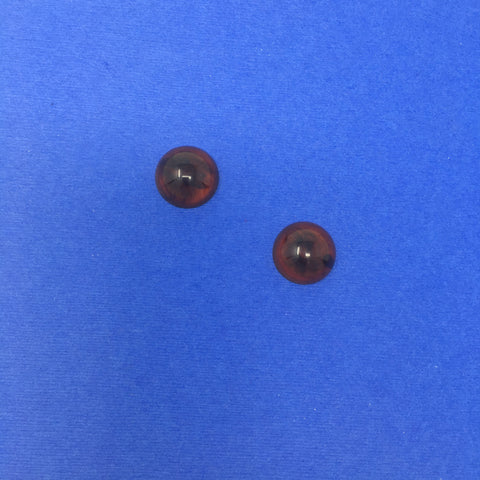 Bakelite Small Round Sparklite™ Earrings in Tortoise