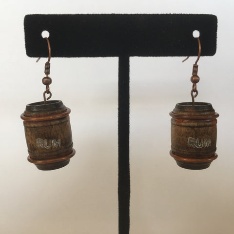 Wooden Rum Barrel Litewood™ Earrings
