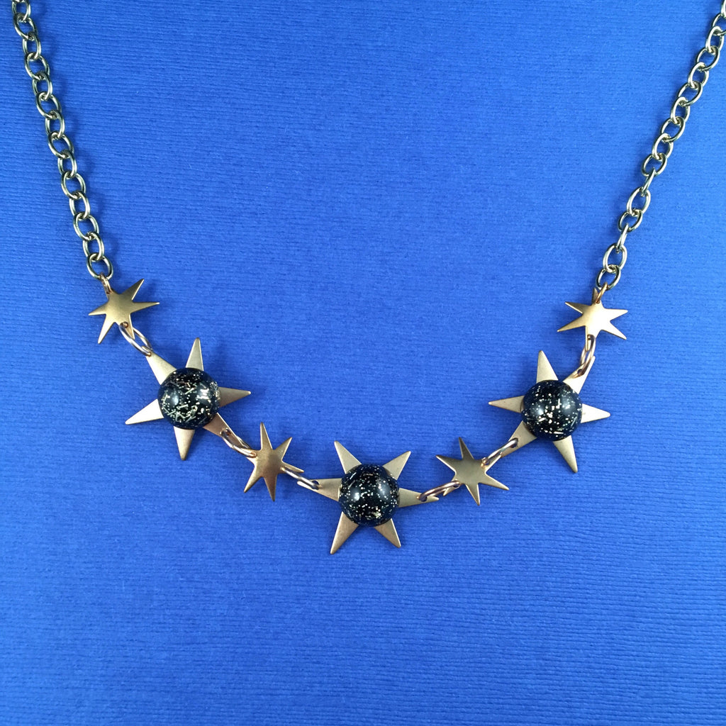Confetti Lucite Brass Starburst Sparklite™ Necklace