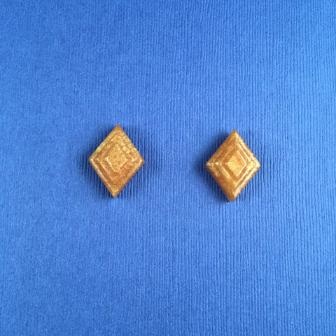 Pearl Lucite Deco Sparklite™ Cufflinks in Gold