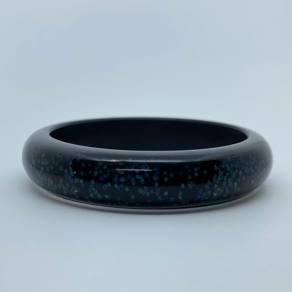 Confetti Lucite Medium Sparklite™ Bangle in Midnight
