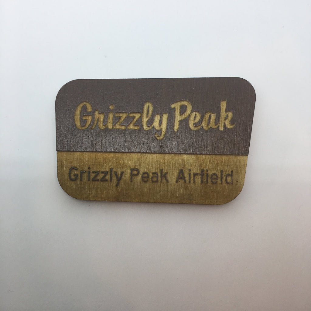 Wooden Grizzly Peak Litewood™ Brooch