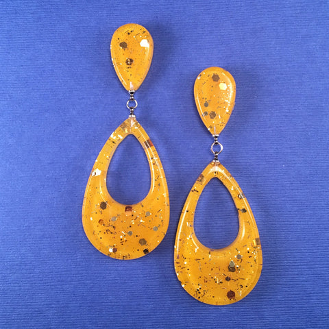 Confetti Lucite Teardrop Sparklite™ Earrings in Sunshine