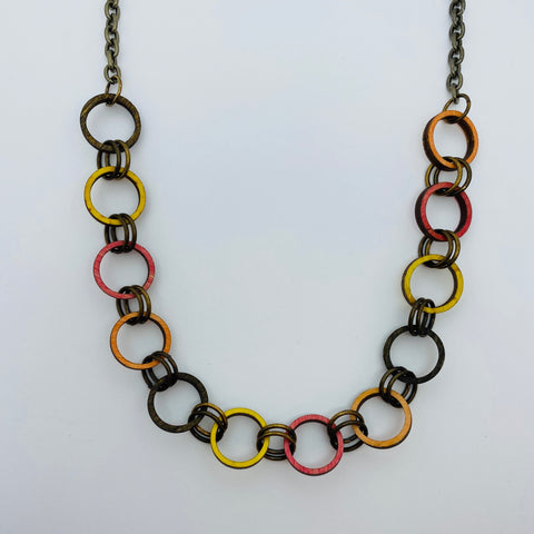 Wooden Brass Haskell Chain Litewood™ Necklace in Autumn