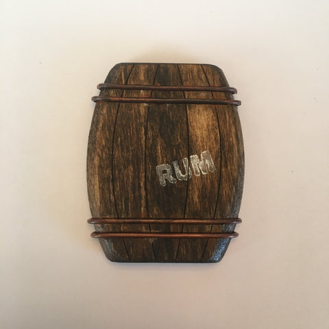 Wooden Rum Barrel Litewood™ Brooch