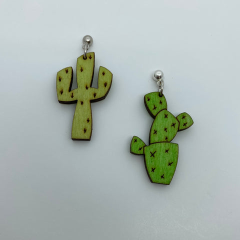Wooden Cactus Litewood™ Earrings