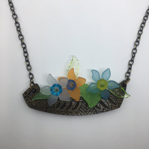 Wooden Crooning Flower Litewood™ Necklace
