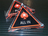 Acrylic All In Triangle Button