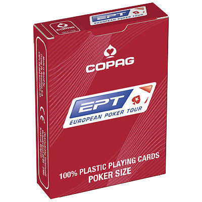COPAG EPT 100% Plastic Playing Cards (Red)