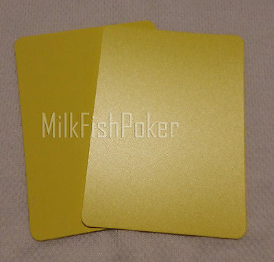 Poker Size Cut Cards - Yellow 100% Plastic
