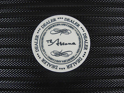 Ceramic Poker Dealer Button - The Ascona Design - BRAND NEW!