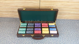 500 EPT Ceramic Poker Chips set - with Wooden Case
