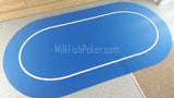 Rubber Poker Table Top - Blue