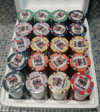 300 WSOP Ceramic Poker Chips - with ABS Case, Cards, Button and Dice
