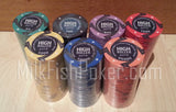 500 EPT High Roller Ceramic Poker Chips - WITH CASE, Cards, Button and Dice