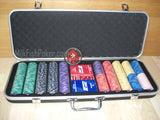 1000 EPT Ceramic Poker Chips - with ABS Case, Cards, Button and Dice