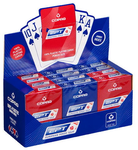 1 Dozen (12) COPAG EPT 100% Plastic Playing Cards