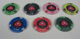 500 PCA Ceramic Poker Chips - with ABS Case, Cards, Button and Dice