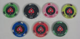 PCA Ceramic Poker Chips - 7 chip sample