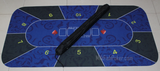 Rubber Poker Table Top - Black and Blue