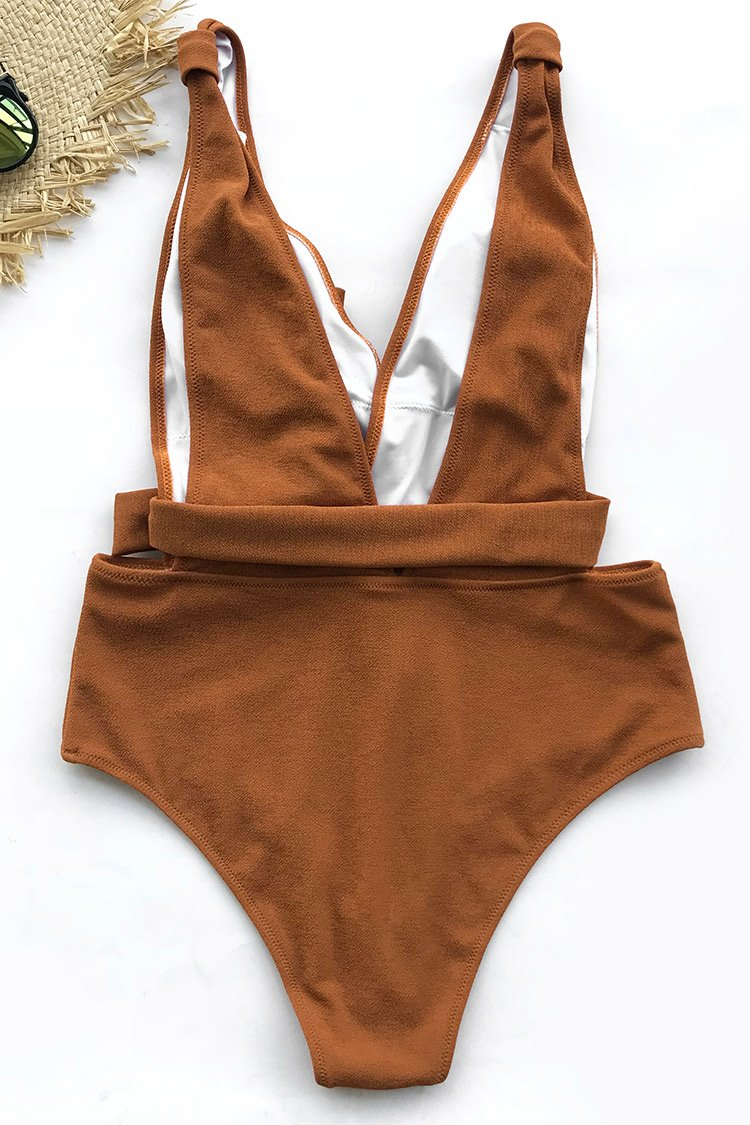 008b1efd70161 Sea Escape Solid One-piece Swimsuit - Cloth Fix