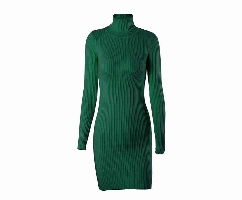 423291554b534 Turtleneck Bodycon Sweater Dress - Cloth Fix