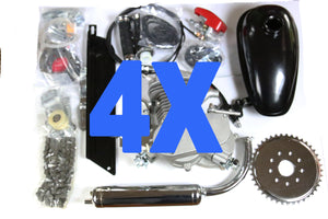 4x Upgraded 66cc/80cc 2 stroke bicycle engine kit